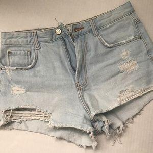 Zara New Without Tag Denim Shorts